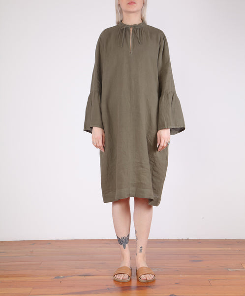 Hartford-Roda Bell Sleeve Linen Dress