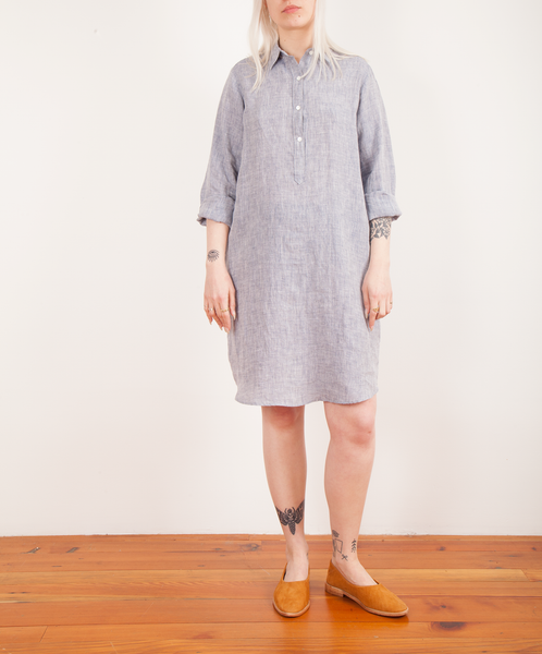 Hartford-Royan Linen Popover Dress