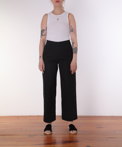 Ali Golden-Side Zip Pant