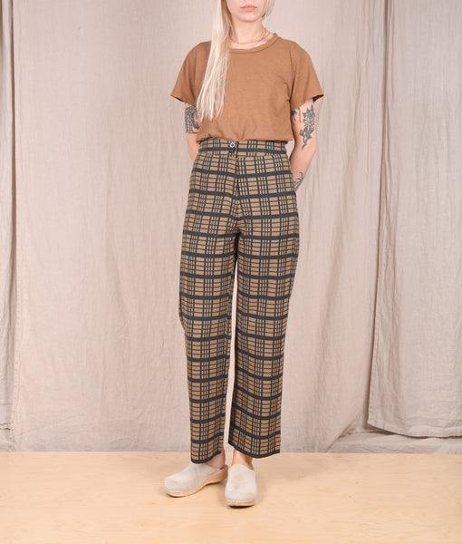 Ali Golden-Silk Fly Front Pant // WINDOWPANE