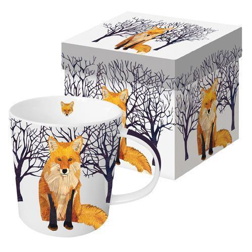 Porcelain Mug - Winter Fox