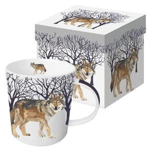Porcelain Mug - Winter Wolf