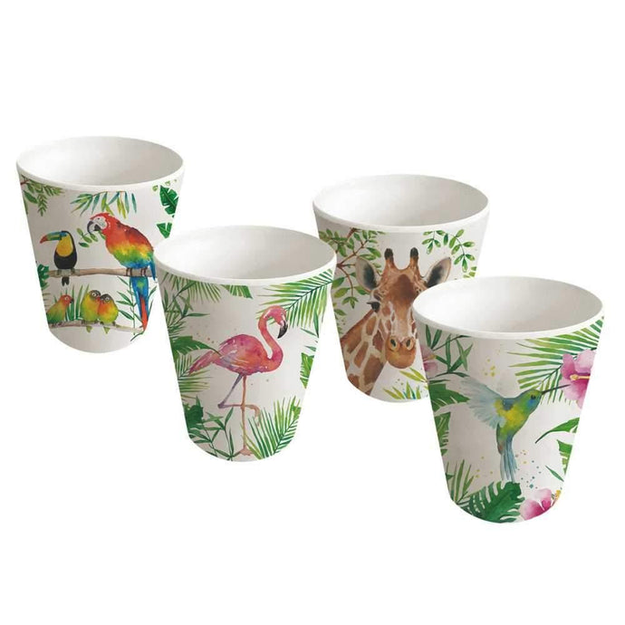Bamboo Cups - Tropicana