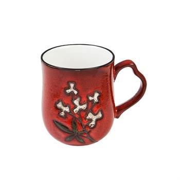 Artisan Mug - Red Wistful Floral