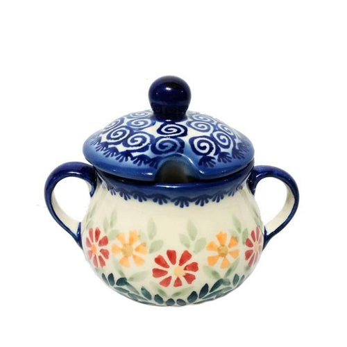 Sugar Bowl - Spring Morning Polish Pottery