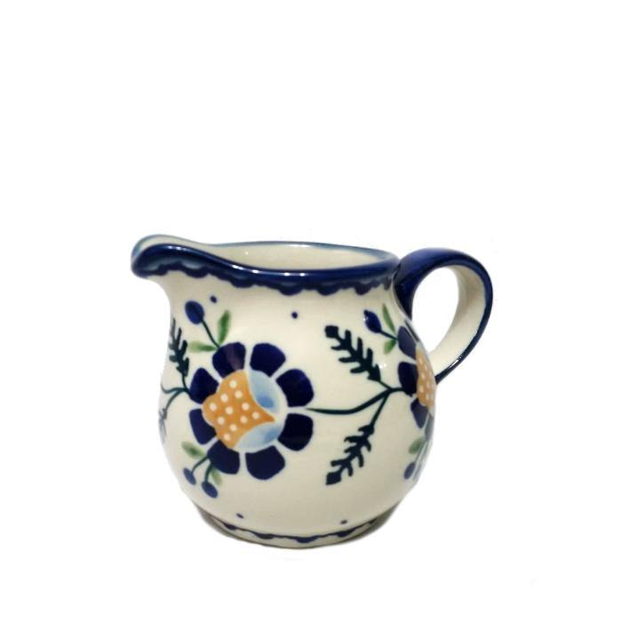 Creamer - Blue Daisy Polish Pottery