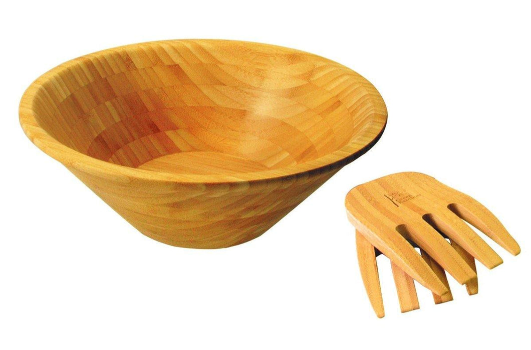 Bamboo Salad Bowl & Server Set, Bear Country Kitchen, Rossland BC