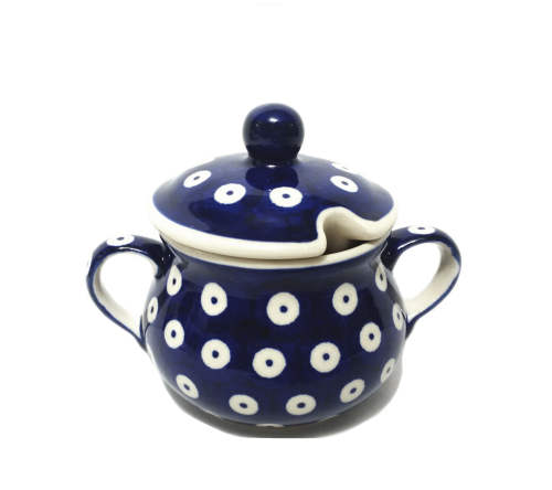 Sugar Bowl - Polka Dot Polish Pottery