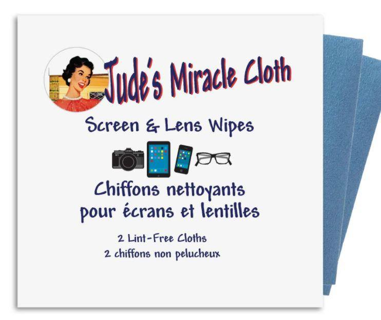 Jude's Miracle Cloth - Screen & Lens Wipes