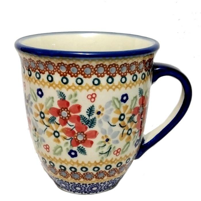 Large Bistro Mug - Summer Joy Polish Pottery