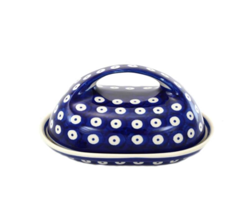 Butter Dish - Polka Dot Polish Pottery