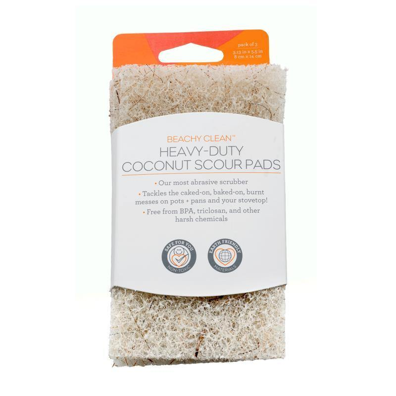 Heavy Duty Coconut Scour Pads Full Circle