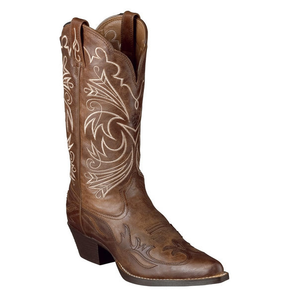 "Ladies Cowboy Boots Ariat ""Heritage Western J-Toe Wingtip"" – Wood #10005920"