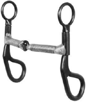Black Steel Snaffle Bit