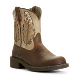 "Ariat Ladies Fatbaby ""Heritage Feather"" Cowboy Boots"
