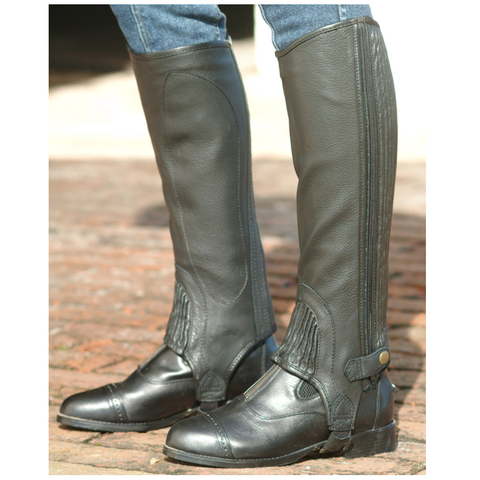 Cavalier Leather Half Chaps – Black