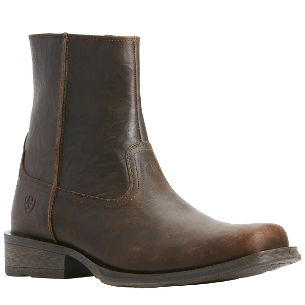 "Ariat Men's ""Rambler Ultra"" Cowboy Boot - Bar Top Brown"