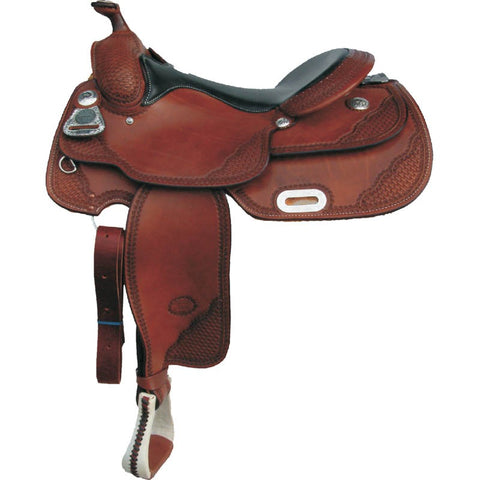 "16"" Billy Cook ""Pro Reiner"" – Basket Weave Western Saddle"
