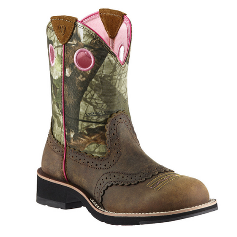 "Ladies Cowboy Boots Ariat ""Fatbaby Camo Cowgirl"""