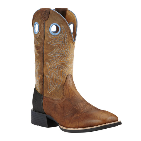 "Ariat Men's ""Heritage Cowhorse"" Cowboy Boots - 8 EE"