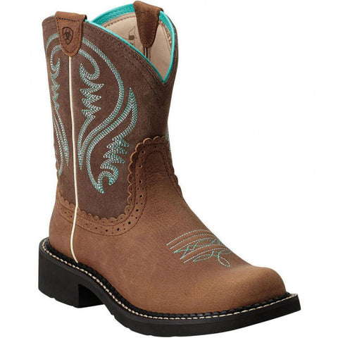 "Ariat Ladies ""Fatbaby Heritage"" Western Boots - Rowdy Tan"