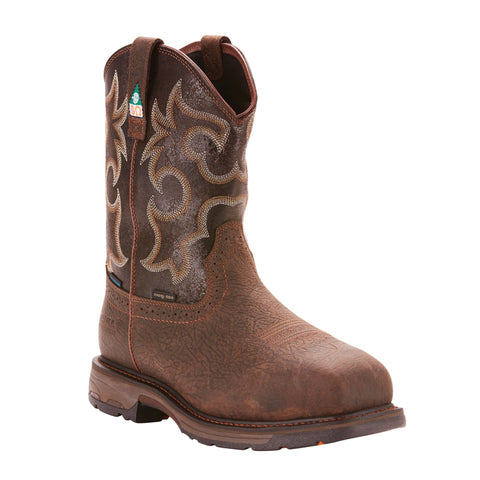 "Ariat Men's ""Work Hog"" CSA Composite Toe Cowboy Boot - Bruin Brown"