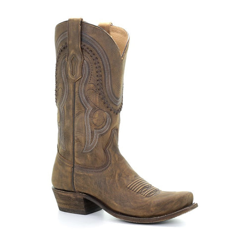 Men's Cowboy Boots Distressed Cowhide Square Toe By Corral Boots #A3479