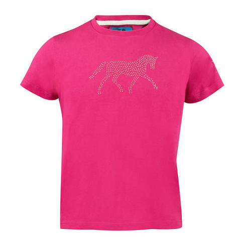 "Horze Kid's ""Abbie"" T-Shirt with Crystals"