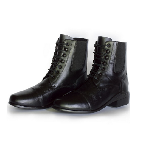 Kid's Jama Leather Paddock Boots – Black/Lace