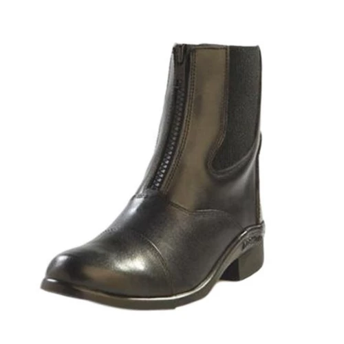 Ladies Jama Leather Paddock Boots – Black/Zip