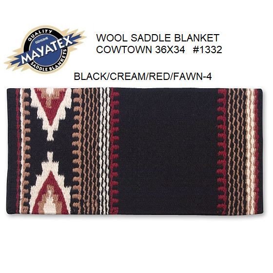 Mayatex Western Saddle Blanket-Cowtown Pattern