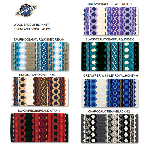 Mayatex Western Saddle Blanket-Riverland Pattern