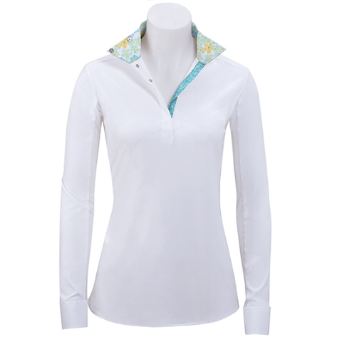 R.J. Classics Ladies Rebecca Show Shirt – Floral Trim