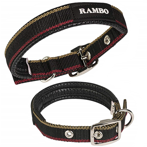 Rambo Dog Collar - Free Dog Tag