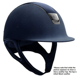 Samshield Premium Alcantara Helmet with Leather Top - Black Chrome
