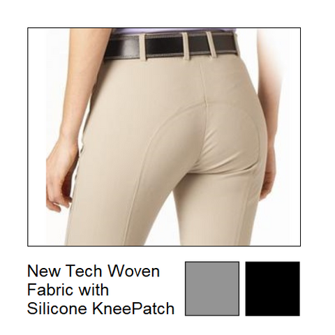 Tuscany Ladies Silicon Knee Patch Breeches-FREE BELT*