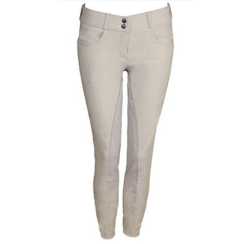 Tuscany 304 Ladies Full Seat Beige Breeches - Long