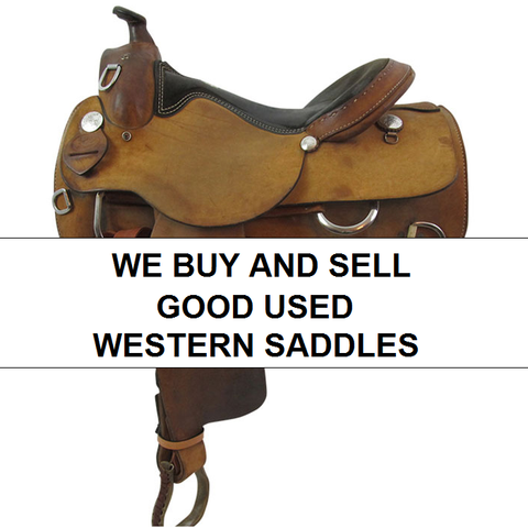 We Buy and Sell Good Used Western Saddles