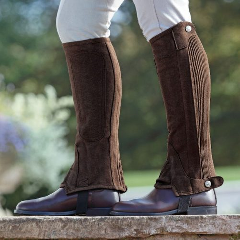 "Ariat ""All Around II"" Half Chaps–Brown Suede-Size XST"
