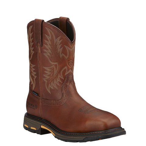 "Ariat Men's ""Work Hog"" CSA Composite Toe Cowboy Boots - Dark Copper"