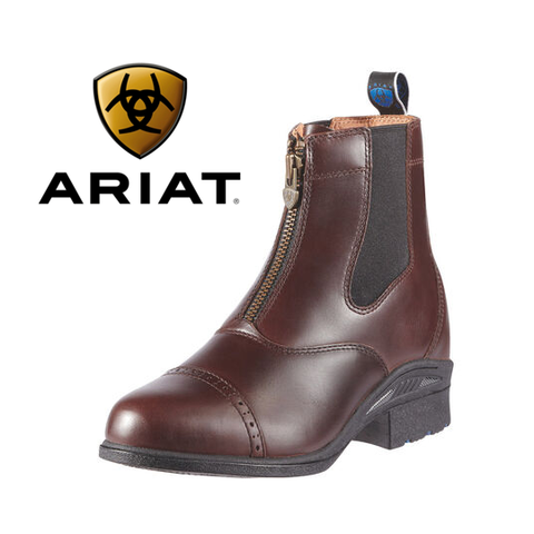 Ariat ladies Devon Pro VX Zip Paddock Boots Waxed Chocolate