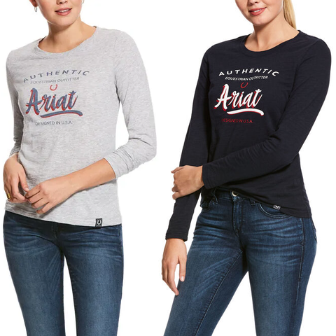 Ariat Ladies T-Shirt Long Sleeve