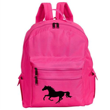 Neon Pink Galloping Horse Backpack