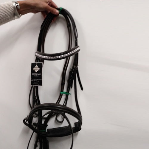 Sherwood Padded Bridle With Crank and Bling Brow