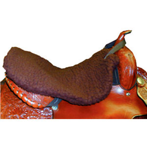 Western Saddle Fleece Seat Saver - Brown