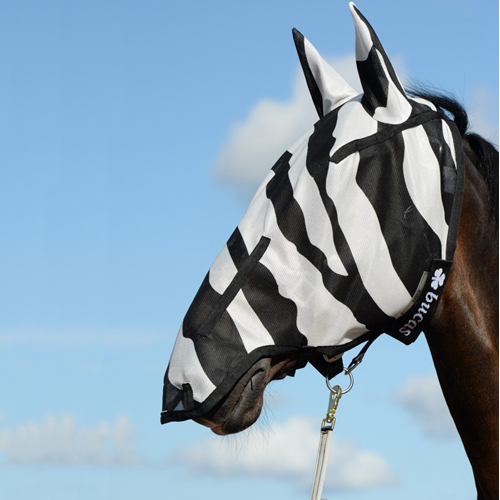"Bucas ""Buzz-Off"" Zebra Fly Mask - Full Face"