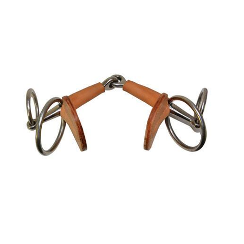 Leather Covered Italian Snaffle Bit