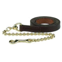 HDR Advantage Leather Lead with Chain