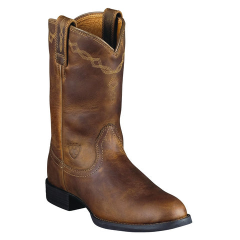 "Ariat Men's ""Heritage Roper"" Cowboy Boots – Distressed Brown"