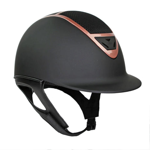 IR4G XLT Matte Black and Rose Gold Riding Helmet